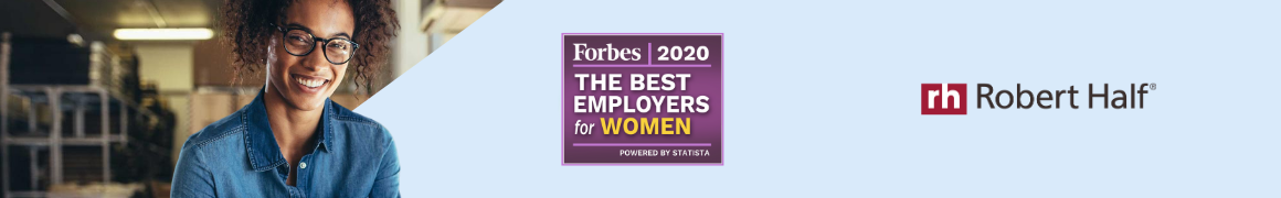 Banner Forbes 2020 Best Employers for Women